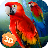 Wild Parrot Sim 3D: Jungle Bird Fly Game