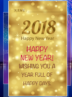 2018 Happy New Year Card - náhled