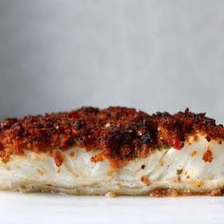 Gluten Free Chorizo Crusted Cod.
