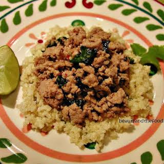 Thai Style Turkey with Lime Cilantro Faux Rice.
