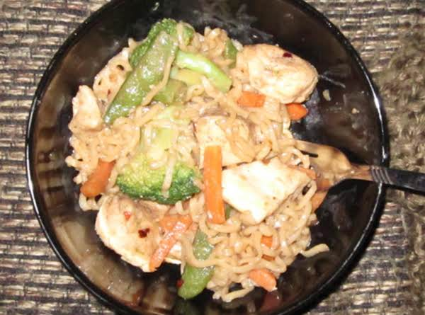 Chicken Stirfry With Toasted Sesame And Ginger Sauce Recipe