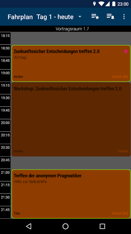 Hackover 2016 Programm- screenshot