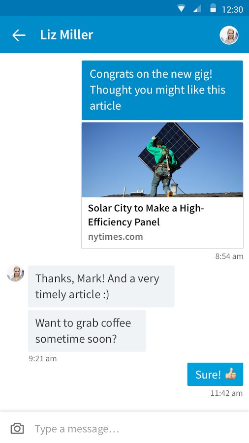 LinkedIn- screenshot