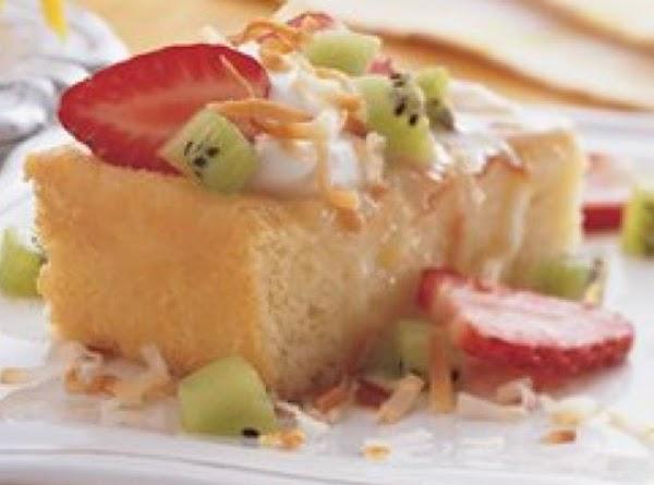 Tres Leches Cake With Crema De Coco Recipe