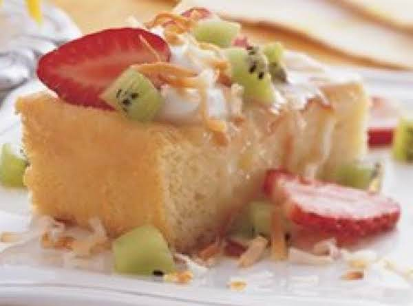 Tres Leches Cake With Crema De Coco Recipe