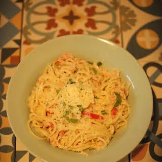 Hot Smoked Salmon Pasta Italian Style.