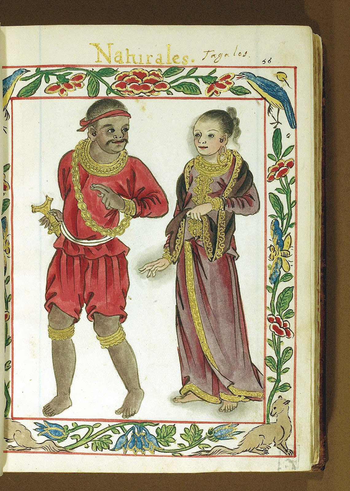 Illustration from the Boxer Codex of a Tagalog couple