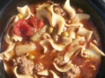Beef & Noodle Soup Recipe