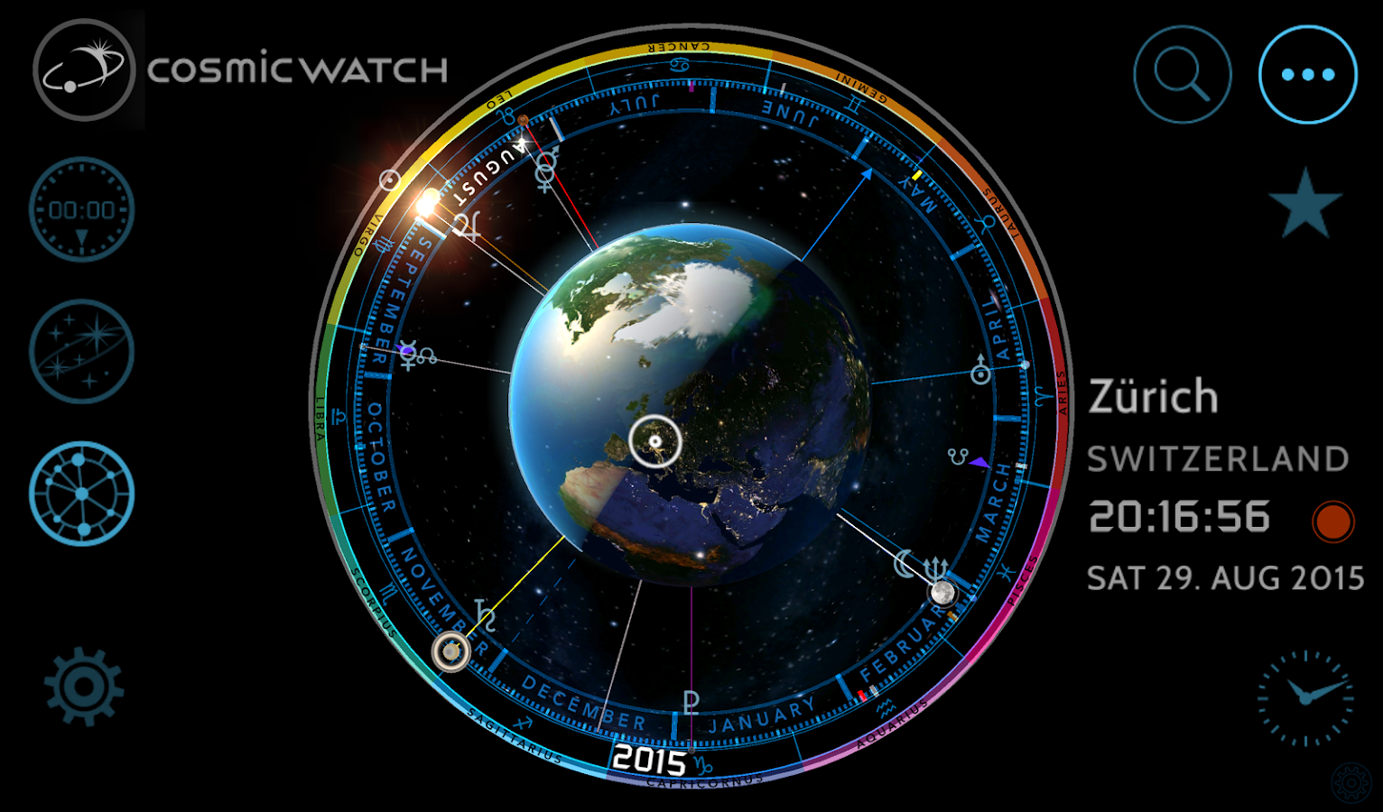 COSMIC WATCH: Time and Space- screenshot