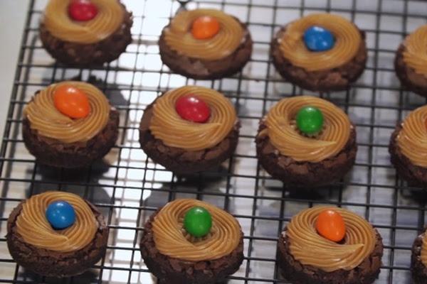 Brownie de Chocolate com Cobertura de Doce de Leite