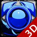 Next Launcher Theme glas blue icon
