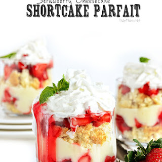 Strawberry Cheesecake Shortcake Parfait