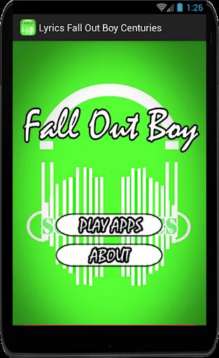 Lyrics Fall Out Boy Centuries