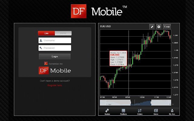 DFMobile - Forex & CFD Trading