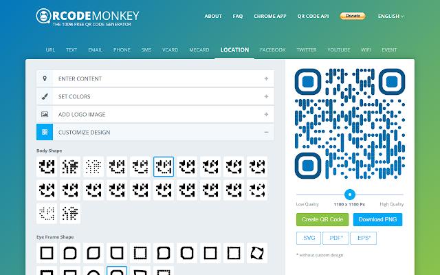 QRCode Monkey - Free QR Code Generator - Chrome Web Store
