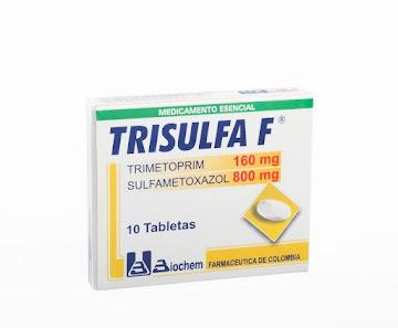 Trisulfa F 160/800Mg   Tab. Caja x10Tab. BIO Trimetoprim Sulfametoxazol
