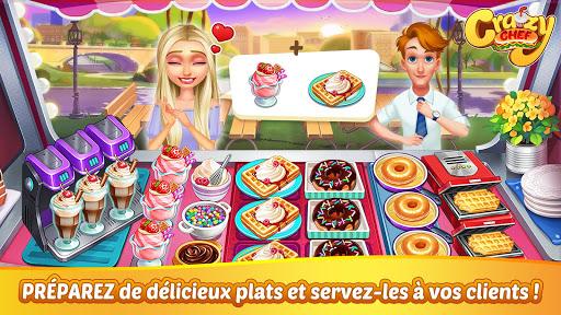 Télécharger Crazy Chef : jeu de cuisine rapide APK MOD (Astuce) screenshots 1