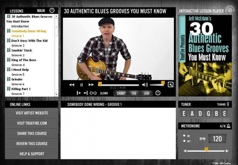 Jeff McErlain - 30 Authentic Blues Grooves You Must Know