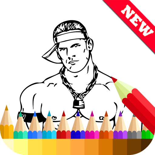 Coloring Book for WWE Fans