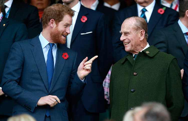 Prince Harry and his late grandfather, Prince Philip.