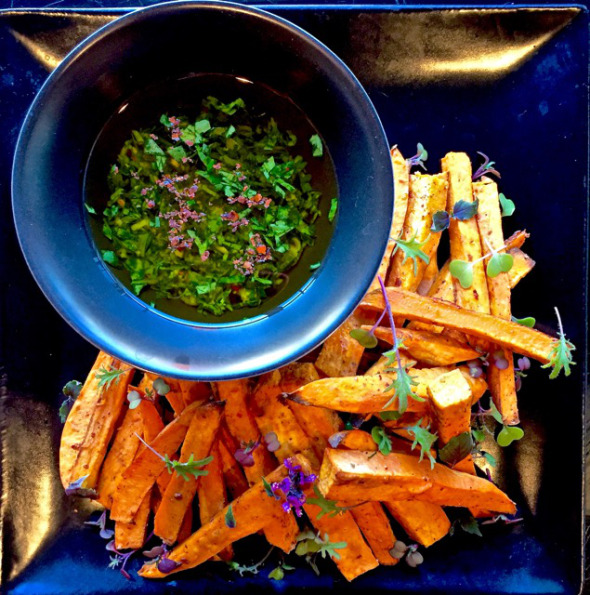 Healthy Baked Sweet Potato Fries With Cilantro-Scallion Dipping Sauce ...
