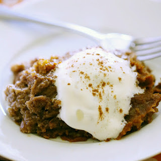 Slow Cooker Pumpkin Dump Cake.