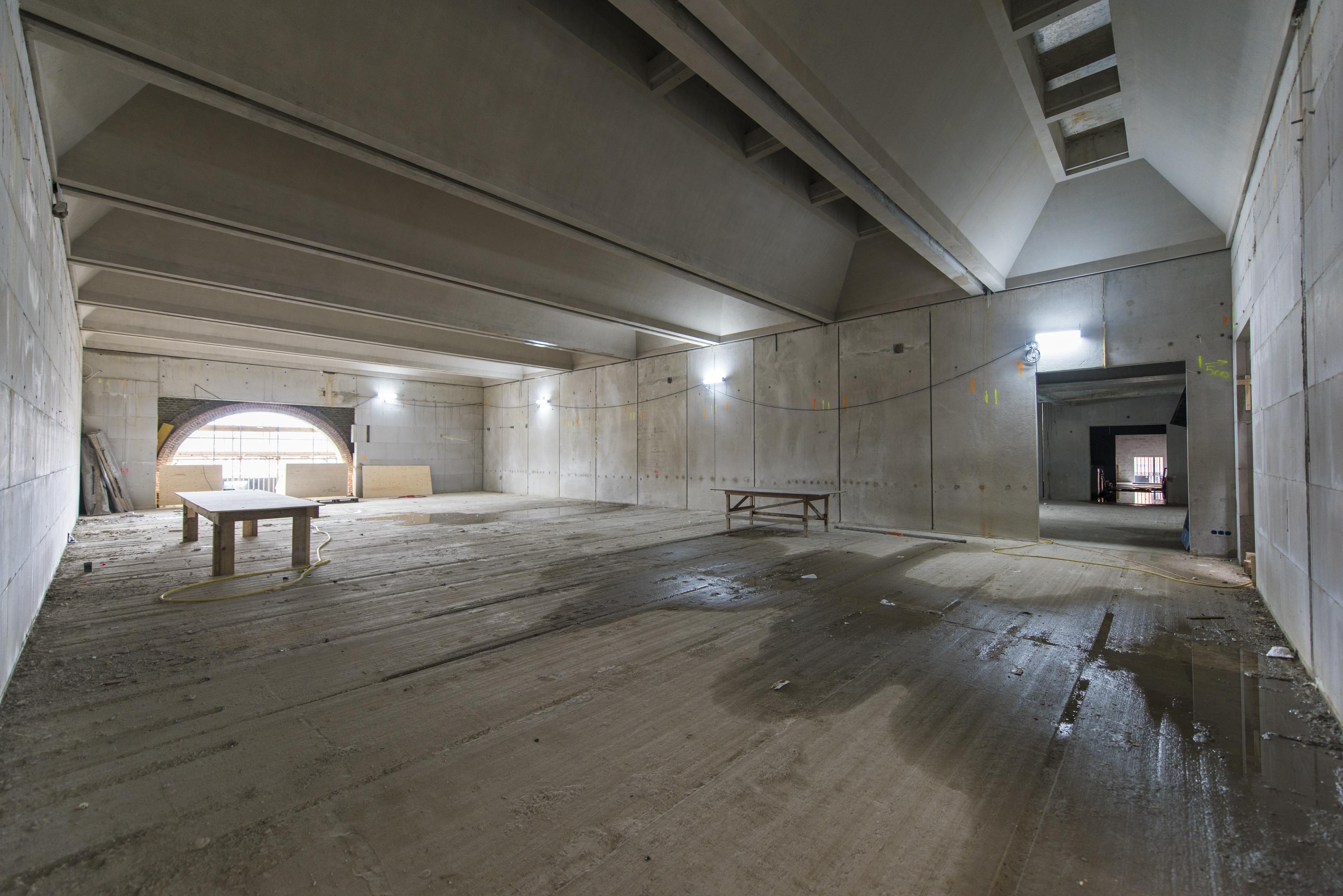De grootste van de twee nieuwe tentoonstellingszalen van Museum De Lakenhal