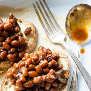Pressure Cooker Baked Beans on Toast.