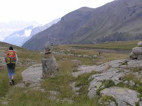 Photo: De Freissinières à Dormilliouse: affleurement du socle cristallin au vallon de Chichin