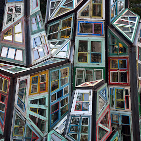 Windows 2 by Bob White - Artistic Objects Glass ( wood, art, artistic, glass, windows,  )