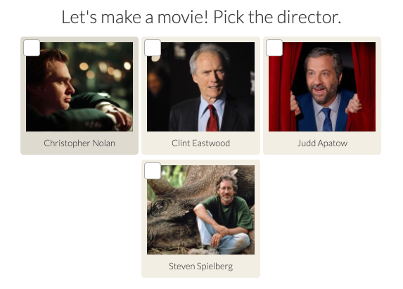 pick a director question with pictures of directors