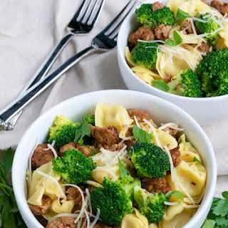 Tortellini with Italian Sausage and Broccoli.