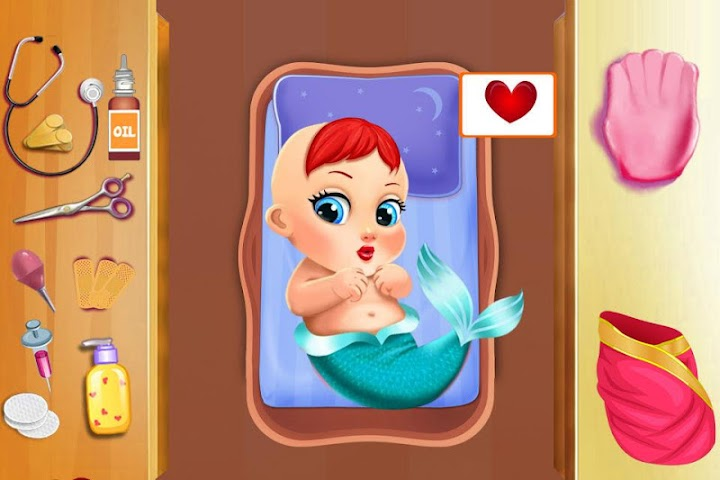 android Mermaid Mommy's New Baby-Care Screenshot 8