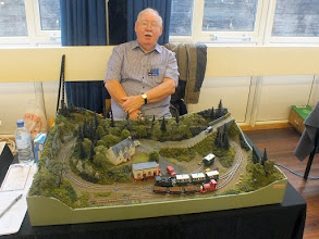 Photo: 007 The first layout visited was Llanrug, Stan Williams' excursion into small, manageable 009 layouts, which makes it a lot easier to cart around the country than the Gairloch & Wester Ross, which I believe now resides in his garage .