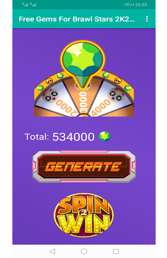 Free Gems For Brawl Stars 2K20   Spin win android2mod screenshots 1