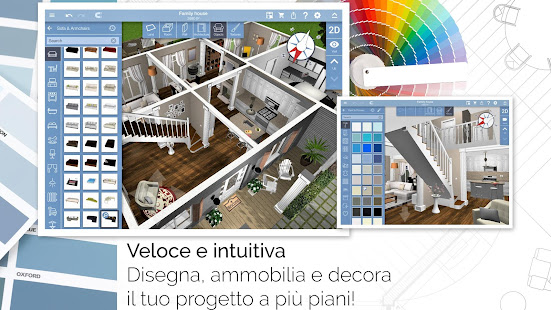 Home design 3d freemium app su google play for App per progettare
