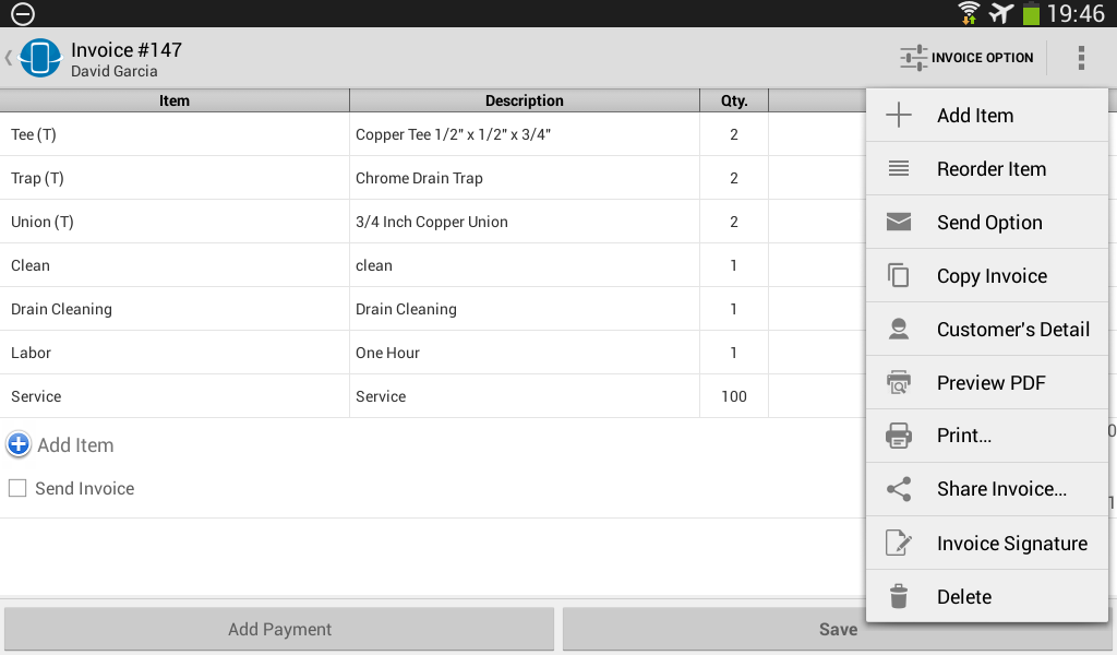 Street Invoice- screenshot