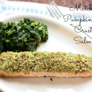Matcha & Pumpkin Seed Crusted Salmon