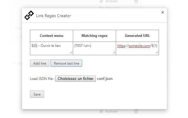 Link Regex Creator