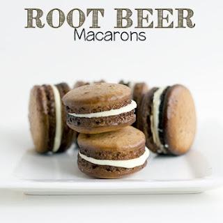 Root Beer Macarons
