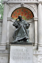 "Photo: Just outside my hotel: Christian Friederich Samuel Hahnemann [1755 - 1843] founder of homeopathy and originator of what is known as the law of similars: Similia similibus curantur [""like cures like""]"