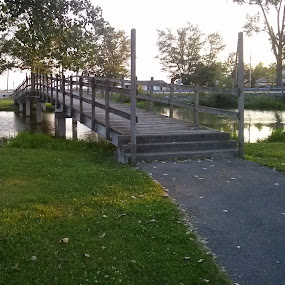 walking bridge  Lake Loramie by Anne Mangen - Instagram & Mobile Android