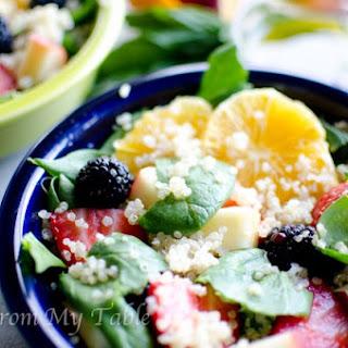 Spinach Quinoa Salad with Lemon Basil Vinaigrette
