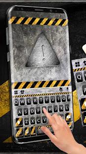Download Metal Warning Line Keyboard Theme For PC Windows and Mac apk screenshot 2