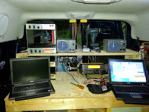 Photo: New layout of K8GP / Rover station - V/UHF (L) and Microwave (R)