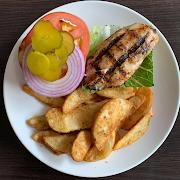 Grilled Chicken Breast Sandwich & Fries