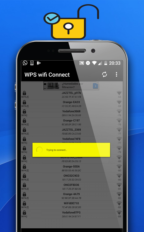 WPS wifi Connect: captura de pantalla