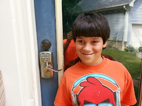 Photo: Johnny was a great helper. He actually was the one that did the bind of the lock to the hub.