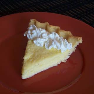 Key Lime Pie with Coconut Flour Crust.