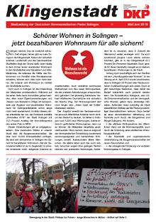 Faksimile: Klingenstadt Seite 1.